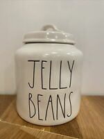 New RAE DUNN Easter JELLY BEANS  Canister Cookie Jar Magenta LL NEW Large Chubby