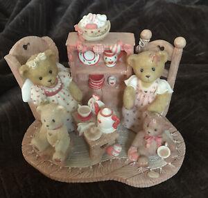 "Cherished Teddies ""stephanie and Melanie tea warm in the soul friends warm heart"
