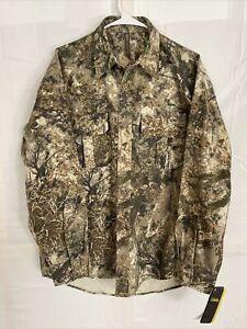NEW! Cabela's Zonz Western Color Phase Button Down Camo Shirt Men's Medium Hunt