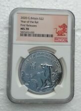 More details for 2020 great britain 1 oz silver 2pd ngc ms70 year of the rat first releases