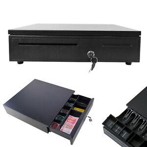 Cash Register Till Drawer Money 5 Bills 5 Coins Removable Tray Safe Key Lockable