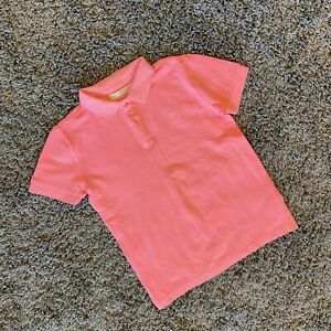 Zara Boys Short Sleeve Salmon Pink Polo Shirt Size 7