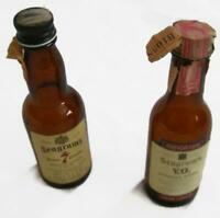 2 Vintage Miniature Seagrams Liquor Bottles - American Canadian 1970