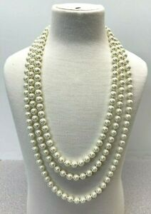 "NWT Beautiful Charter Club 72"" Glass Fashion Pearl 8MM White - MSRP $68.50 (C5)"
