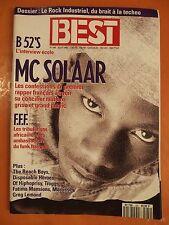 Best 289 du 08/1992-Dossier Le Rock Industriel-B 52'S-Mc Solaar-F.F.F.-Morrissey