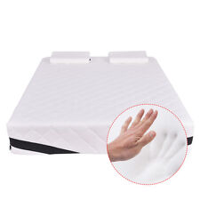"""Queen Size 12"""" Memory Foam Mattress Pad Bed Topper With 2 FREE Pillows New"""