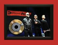 Depeche Mode Poster Art Wood Framed 45 Gold Record Display C3