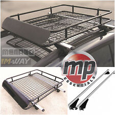 Lockable Aluminium Roof Rail Bars & Cargo Rack Tray to fit VW Tiguan Cross 2014>