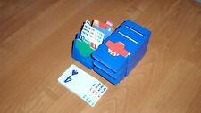 Bridge Bidding Boxes (set of four, deep blue), BRAND NEW, vertical style