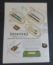 Original 1942 Print Ad SHEAFFER'S Pen Feathertouch Fountain