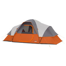 CORE Equipment 9 Person 16' x 9' Extended Dome Camping Tent - Orange/Grey