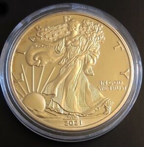 2021 American Eagle Coin Gold Plated Us gold Coin FREE SHIPPING to Canada and US