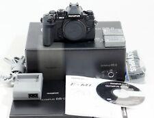 MINT Olympus OM-D E-M1 16.3MP Digital Camera Black Body ONLY 4K SHUTTER COUNT