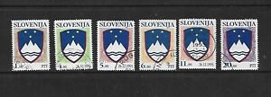 Slovenia Slovenija 1991  Arms Used Set 1ptt 4 5 6 11 & 20. Free Postage To UK.