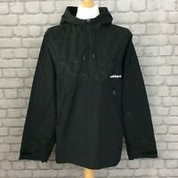 ADIDAS ORIGINALS MENS UK L BLACK MODERN OVERHEAD WINDBREAKER HOODED JACKET CS