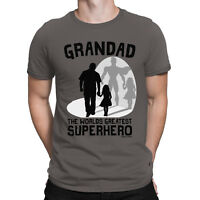 Grandad Our Favourite Superhero Mens T-Shirt Granddaughter Fathers Day Gift Top