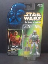 NEW Star Wars POTF Boba Fett with Sawed-Off Blaster Rifle & Jet Pack Kenner 1997