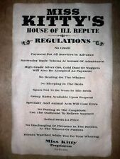 """(455) OLD WEST BROTHEL RULES MISS KITTY'S HOUSE OF ILL REPUTE POSTER 11""""x17"""""""