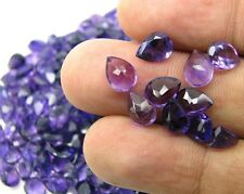 Top Color Natural African Amethyst 294Ct 300pc Lot 8X6mm Pear Faceted Gemstones