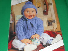 Childs  jacket and hat size 16-24 knitting pattern
