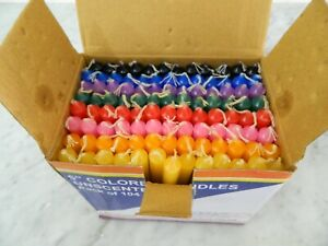 """Chime Spell Mini Ritual Candles Box Mixed Multiple Colors 5"""" Pack of 104"""