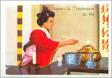 IMAGE CARD Chanoyu Cérémonie du Thé Tea Ceremony Japan Japon Asie Asia 60s
