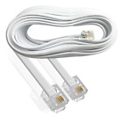 5m White RJ11 TELEPHONE EXTENSION LEAD | ADSL Model Router Broadband Cable 6p4c