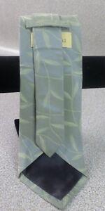 Villa Bolgheri 100% Italian Silk Green Leaves Necktie for Men - Mens 140cm Tie