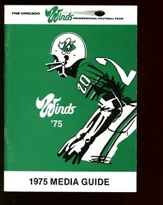 1975 WFL Football Chicago Wind Media Guide NRMT