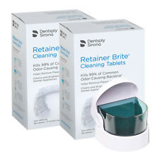 Retainer Brite 6 Months Supply + SONIC | 192 Tablets + Cordless Sonic Cleaner
