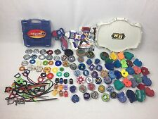 HUGE Beyblade Lot - Launchers, Beyblades, Ripcords, Arena, Case LOTS MORE FREESH