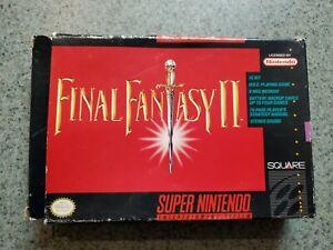 Authentic Original Final Fantasy 2 II Snes Super Nintendo Box + Tray ONLY