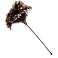 One  soft floss ostrich feather duster 60cm overall plastic handle FIRST GRADE