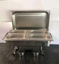Chafing Dish Speisenwaermer Warmhaltebehaelter 4x 1/4 GN-Behälter 10-Telig