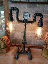 Vintage steampunk Industrial Pipe Retro reading table,desk lamp