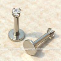 Gem Tragus Lip Ring Monroe Ear Cartilage Stud Earring Bar Body Piercing Labret