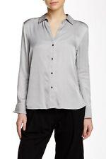 James Perse Women's Grey(Fog) Twill Split Back Shirt Sz.0(XS) NWOT $225