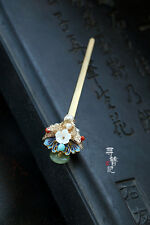 High Quality Chinese Classical Women Hairpin Cloisonne Enamel Butterfly Hairpin