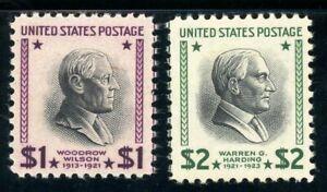USAstamps Unused VF US $1+2 Presidential Scott 832, 833 OG MNH