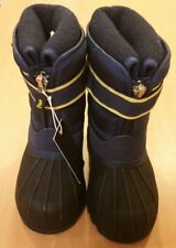 New: Toddler Polo Ralph Lauren Waterproof Full Lined Sub Degree Zip BOOTS Size 5