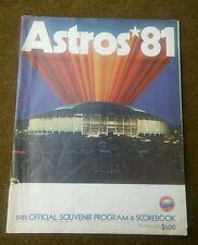 HOUSTON ASTROS OFFICIAL SOUVENIR PROGRAM SCOREBOOK 1981