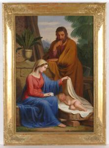 "Josef Arnold the Elder (1788-1879) ""Holy Family"", Oil on Canvas, 1856"