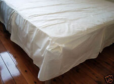 Combed Cotton Light Cream Bed Sheet Valance Queen Size