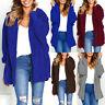 Women's Furry Fur Jacket Outerwear Tops Winter Warm Hooded Fluffy Coat Sweater