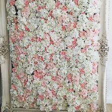 Los paneles de pared de flores boda telón de fondo Peonía rosas blancas en rosa-Reino Unido Proveedor