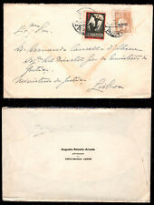 193? Portugal Azores Cover by PAQUETE to Lisbon. Ceres 1$20 + ANT Cinderella