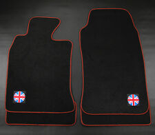 Union Jack UK Black Red Carpet Floor Mats Front Rear 4Pcs For 07-13 Mini Cooper