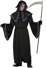 "Adult Halloween Grim Reaper Costume - Robe, Hooded Collar, Belt Up to 42"" Chest"