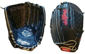 "Rawlings Select Series 13"" Leather Baseball Glove, Black, Right Hand Throw"