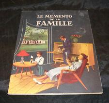 LE MEMENTO de la FAMILLE catalogue du groupement économique d'achat vintage